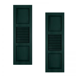 21in. Wide With Additional Panel - Architectural Collection Combination Composite Fiberglass Shutters (pair)