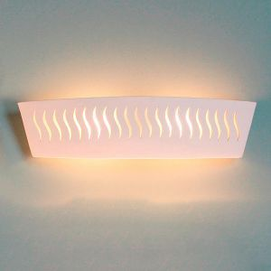"23.5""Doodle Pattern Ceramic Bathroom Light"