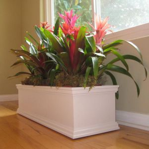 Laguna PVC Composite Planter on Caster Wheels-Choose 2 Lengths