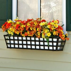 24in. Santiago Decora Window Box w/ Plastic Liners