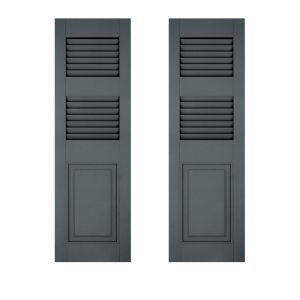 18in. Wide - Architectural Collection Combination Shutters w/ Extra Rail (Pair)