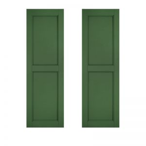 15in. Wide - Architectural Collection Two Equal Flat Panel Shutters (Pair)