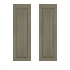 18in. Wide - Architectural Collection Vertical Cut Profile Single Panel Shutters (Pair)