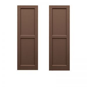 21in. Wide -Classic Collection 2 Equal Flat Panel Shutters (Pair)