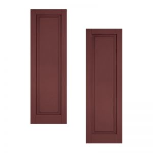 24in. Wide - Classic Collection Raised Single Panel Shutters (pair)