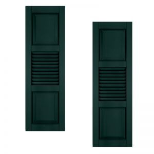 24in. Wide With Additional Panel - Architectural Collection Combination Composite Fiberglass Shutters (pair)