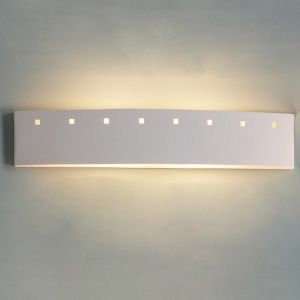 "27.5"" Bathroom Bar Light w/ Small Square Cut Outs"
