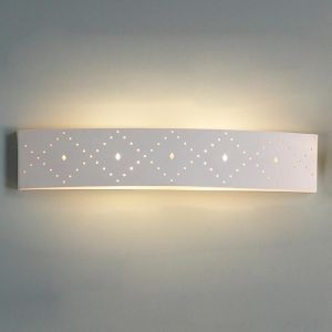 "27.5"" Contemporary Diamond Pattern Bathroom Light"