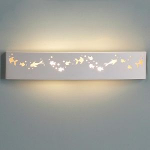 "27.5"" Rectangular Bathroom Light w/ Fish Figures"