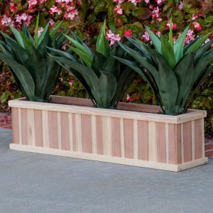 36in. Paneled Redwood Window Box