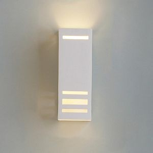 """4.5"""" Geometric Rectangle Sconce w/ Contemporary Lines"""