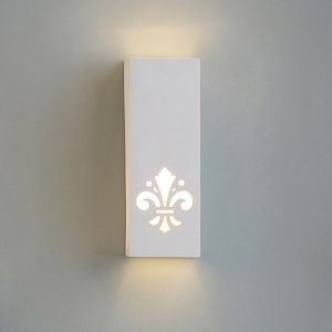"4.5"" Geometric Rectangle Sconce w/ Fleur-de-lis"