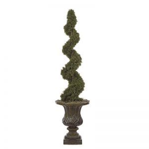 4' Artificial Cedar Spiral Topiary - Indoor
