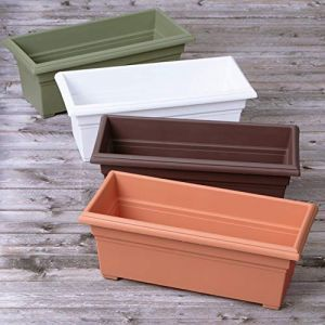Vinyl Rectangular Countryside Patio Planter - 4 Colors Available