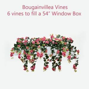 DIY Artificial Bougainvillea Vines for Window Boxes