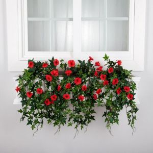 Window Box Recipes-Outdoor Artificial Morning Glories- Select Size