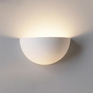 "7.5""  Clean Ceramic Bowl Sconce"