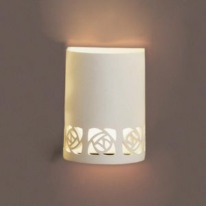 "7""  Ceramic Cylinder Sconce w/ Abstract Cut Outs"