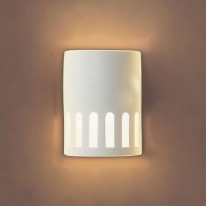 "7""  Coliseum Contemporary Ceramic Sconce"