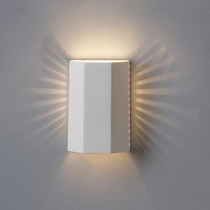"7"" Folded Block Sconce w/ Cut Out Side Lights"