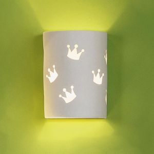 "7"" Royal Crown Children's Cylinder Sconce"