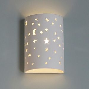 "7""  Starry Night Cylinder Sconce"