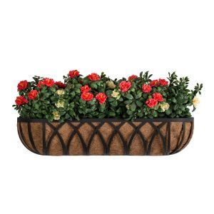 """72"""" Arch Hayrack Window Box with Standard Coco Coir Liner"""