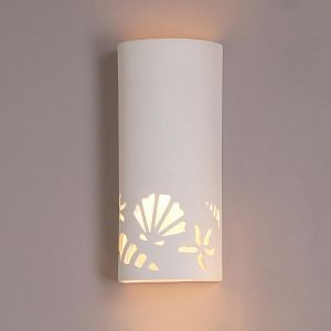 "8.5"" Sea Stars & Shells Lifestyle Ceramic Sconce"