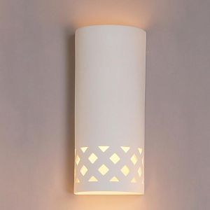 "8.5"" Simply Southwest Cylinder Sconce w/ Cut Out Pattern"
