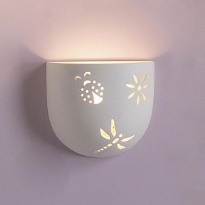 "8.5""  Tumbler Bowl Wall Sconce w/ Critters"
