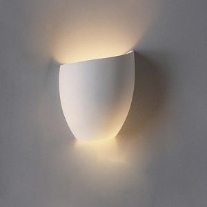 "8"" Asymmetrical Tumbler Ceramic Bowl Sconce- Slanted Left"