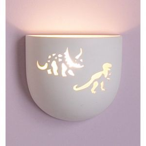 "8.5"" T-Rex & Triceratops Children's Bowl Sconce"