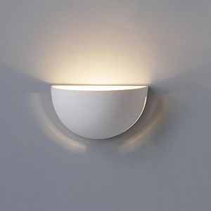 "9.5"" Clean Bowl Ceramic Wall Sconce w/ Side Slits"