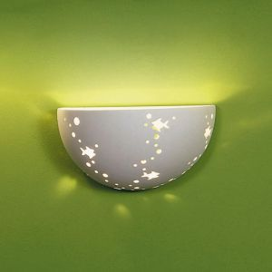 "9.5"" Goldfish Tank Ceramic Bowl Sconce"