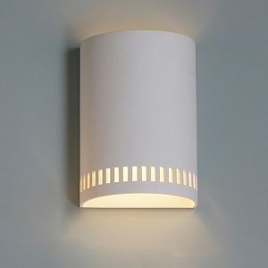 """9""""  Contemporary Cylinder Sconce w/ Block Pattern"""