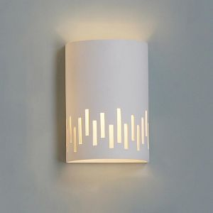 """9""""  Cylinder Ceramic Sconce w/ Contemporary Cut Out Pattern"""