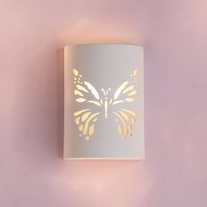 "9"" Cylinder Sconce w/ Butterfly Cut Out"