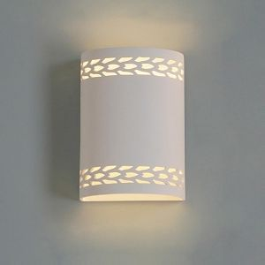 """9"""" Cylinder Sconce w/ Contemporary Maize Border"""