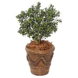 20in. Outdoor Rated Artificial Dark Boxwood