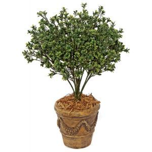 26in. Large Outdoor Rated Artificial Dark Boxwood