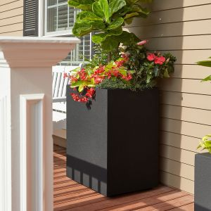 Colonnade Tall Rectangular Planter with Toe Kick-Choose from 8 Colors