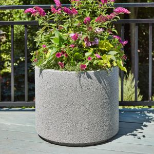 Banbridge Round Planter with Toe Kick - Choose from 8 Colors
