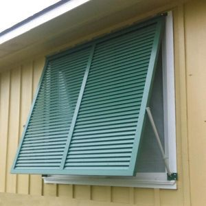 Aluminum Bahama Shutters 60in.W (Hurricane Rated)