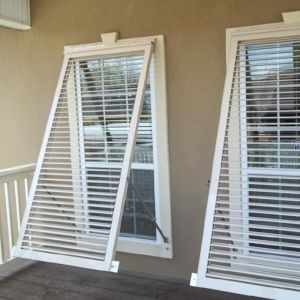 Aluminum Bahama Shutters 35in.W (Hurricane Rated)