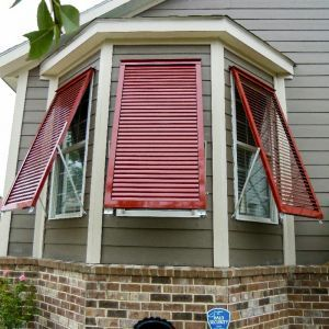 Aluminum Bahama Shutters 24in.W (Hurricane Rated)