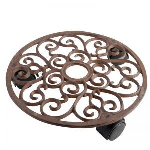 Amelia Round Rolling Plant Stand
