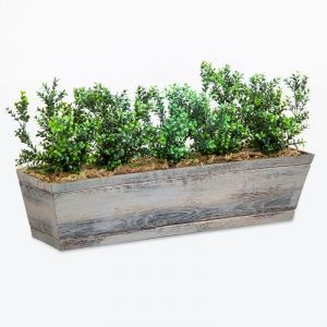 DIY Artificial Boxwood Bush Arrangements for Window Boxes