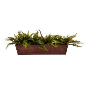 DIY Window Box Recipe - Outdoor Artificial Ruffle Ferns