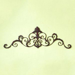 Brown Leaf Scroll Topper