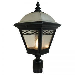 Buckhurst Line Voltage Post Light Fixture-Black